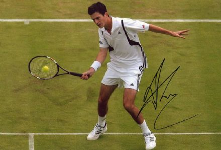 Tim Henman, British tennis player, signed 12x8 inch photo.
